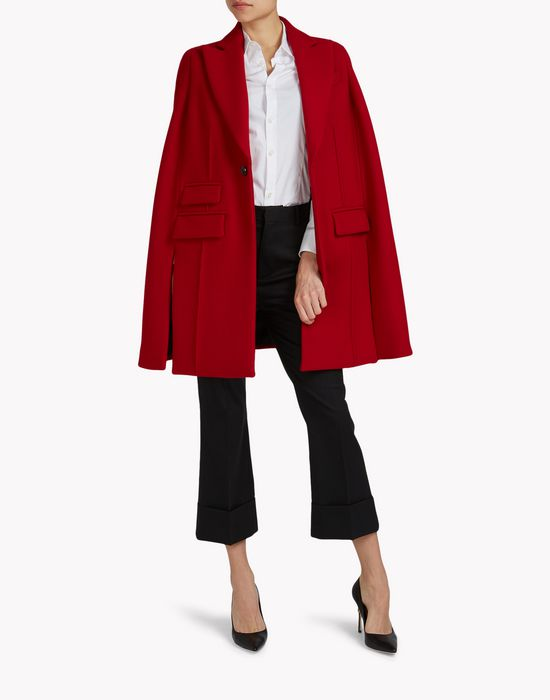 wool pilar cape coats & jackets Woman Dsquared2
