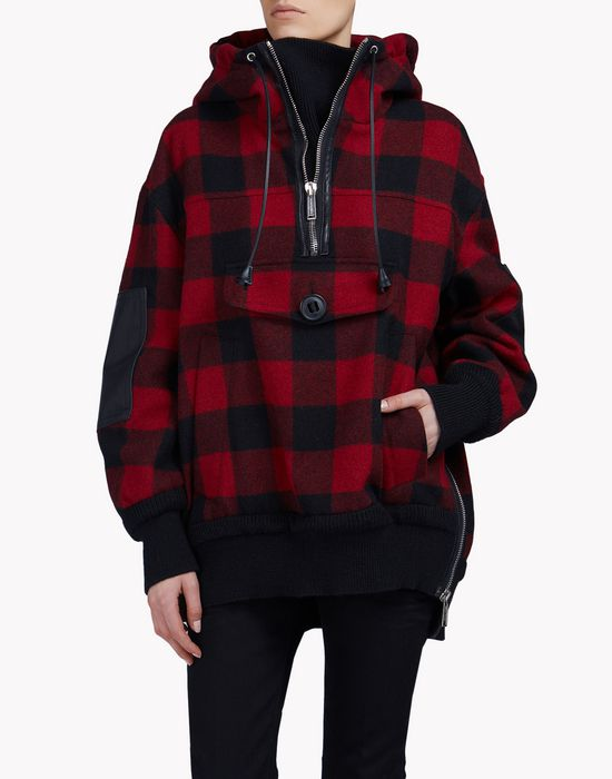 buffalo check anorak coats & jackets Woman Dsquared2