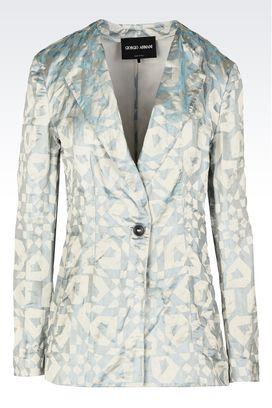 Armani Giacche Donna giacca monopetto in jacquard di raso di seta
