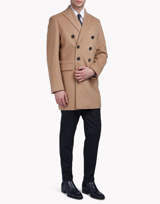double-breasted wool coat mäntel & jacken Herren Dsquared2