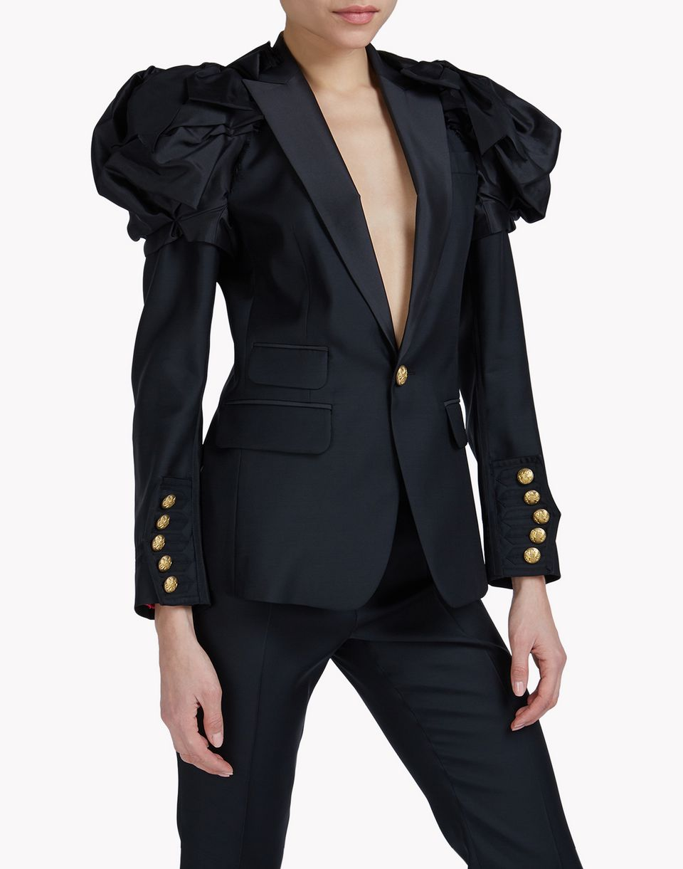 heraldic silk blazer coats & jackets Woman Dsquared2