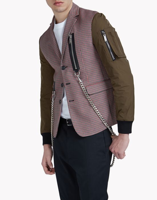 chain bomber blazer coats & jackets Man Dsquared2