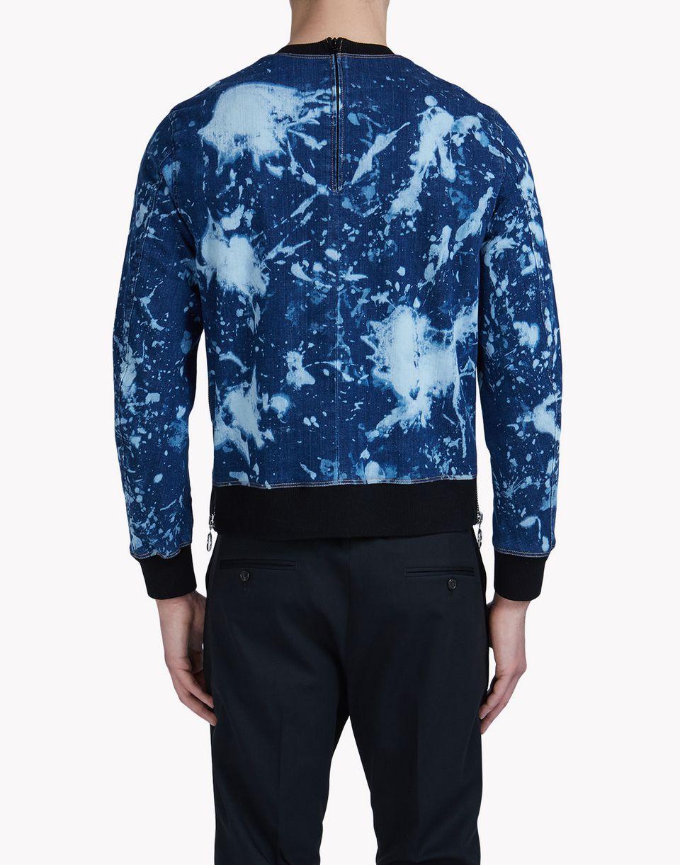 maculato denim sweatshirt top wear Man Dsquared2