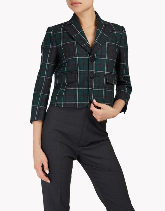 flannel check blazer coats & jackets Woman Dsquared2