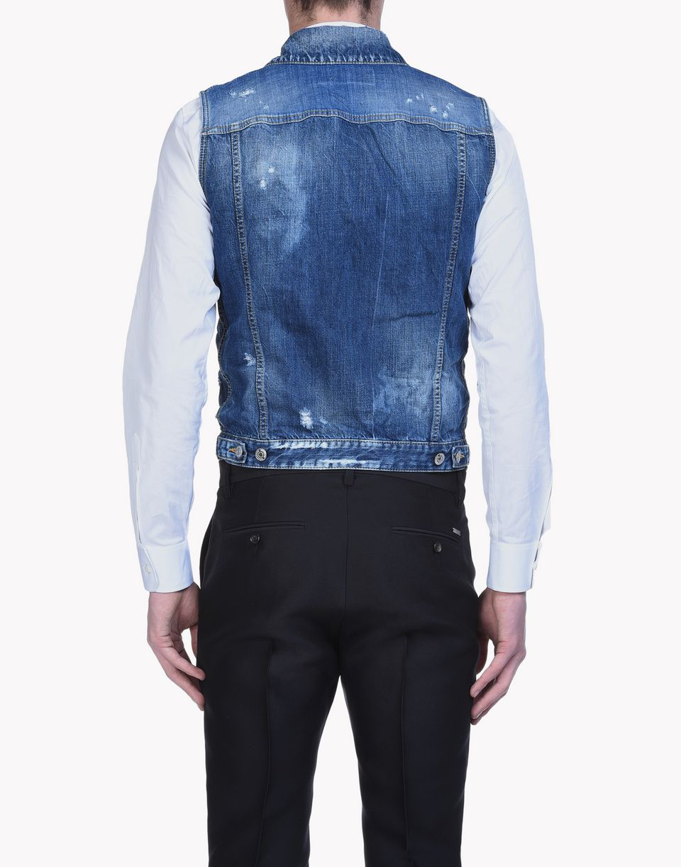 butch denim vest coats & jackets Man Dsquared2