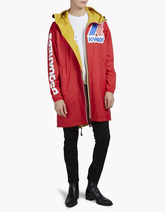 k-way reversible windbreaker parka manteaux & vestes Homme Dsquared2