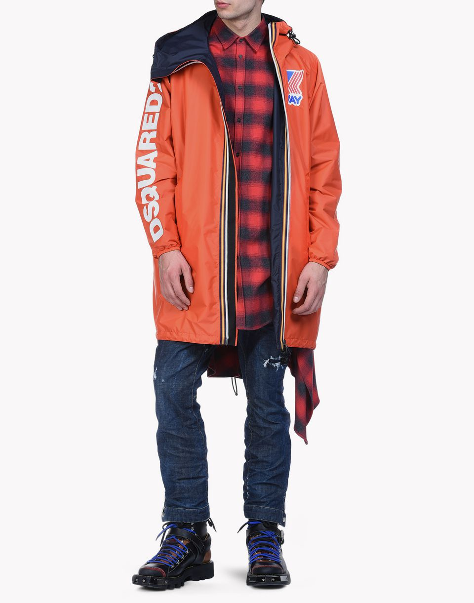k-way reversible windbreaker parka mäntel & jacken Herren Dsquared2