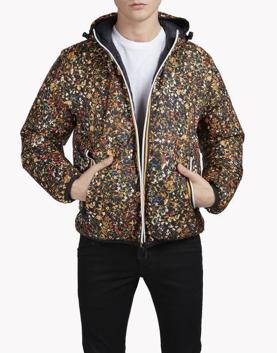 k-way floral reversible puffer jacket mäntel & jacken Herren Dsquared2