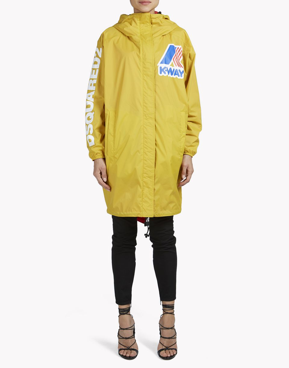 k-way reversible windbreaker parka coats & jackets Woman Dsquared2