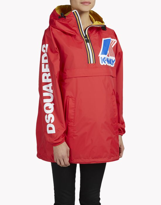 k-way reversible windbreaker anorak mäntel & jacken Damen Dsquared2