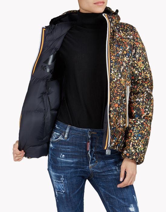 k-way floral reversible puffer jacket coats & jackets Woman Dsquared2