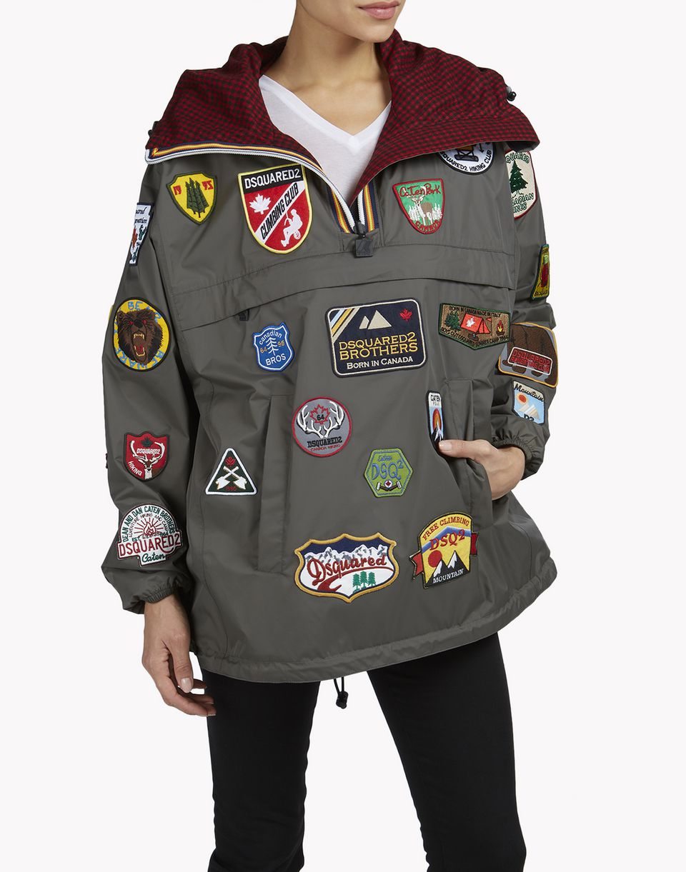k-way reversible windbreaker anorak coats & jackets Woman Dsquared2