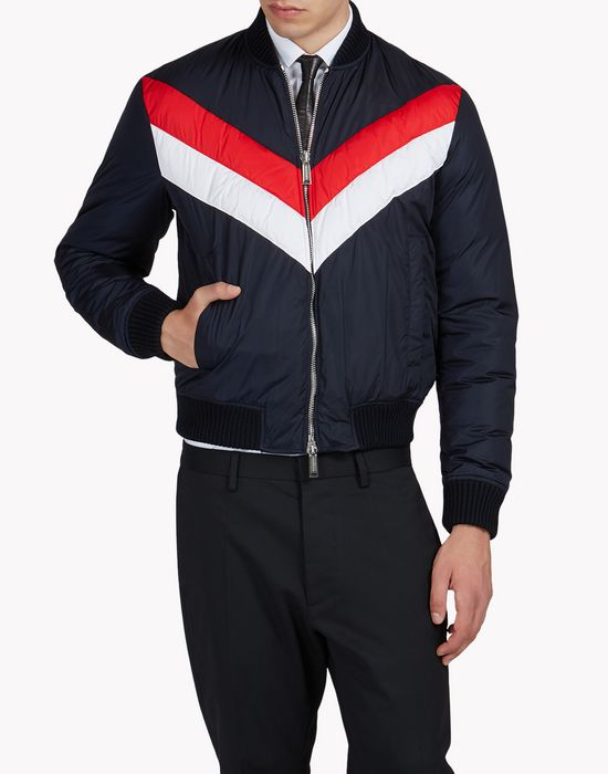stripe bomber jacket coats & jackets Man Dsquared2