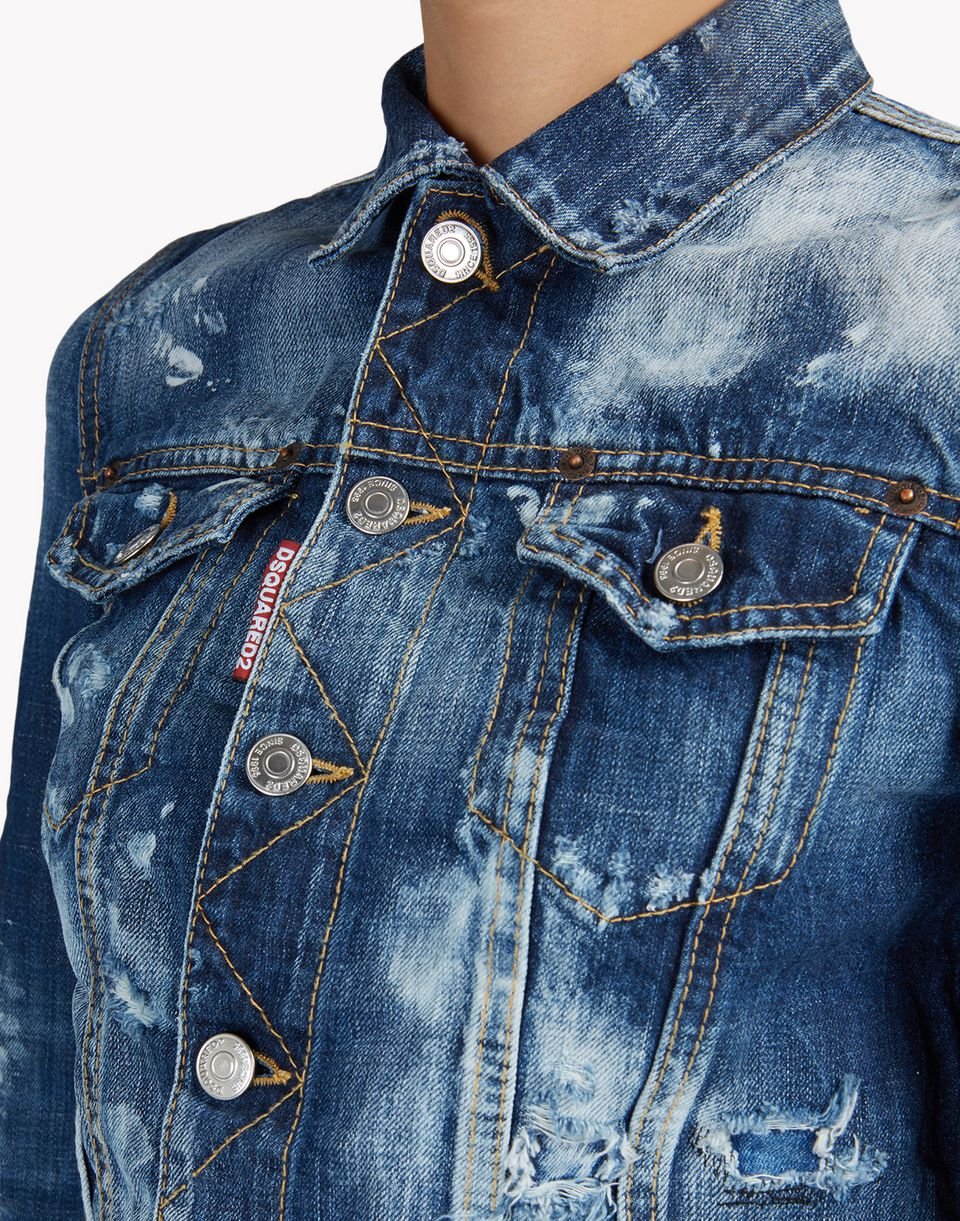 denim jacket mäntel & jacken Damen Dsquared2