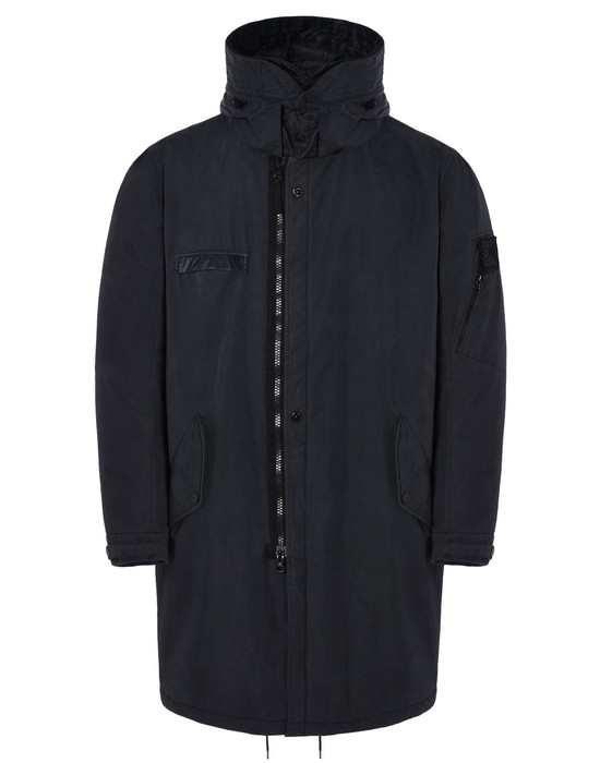 STONE ISLAND SHADOW PROJECT LONG JACKET 70412 PADDED FISHTAIL PARKA WITH DROP POCKET (TELA 50 FILI 2L) 2 LAYER FABRIC - GARMENT DYED WITH ANTI-DROP AGENT - WIND AND WATER-RESISTANT - BREATHABLE