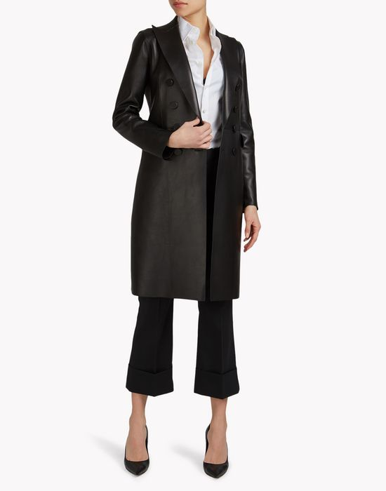 leather trench coat manteaux & vestes Femme Dsquared2
