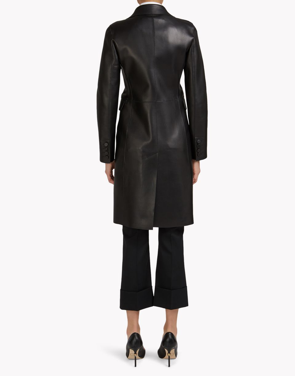 leather trench coat coats & jackets Woman Dsquared2