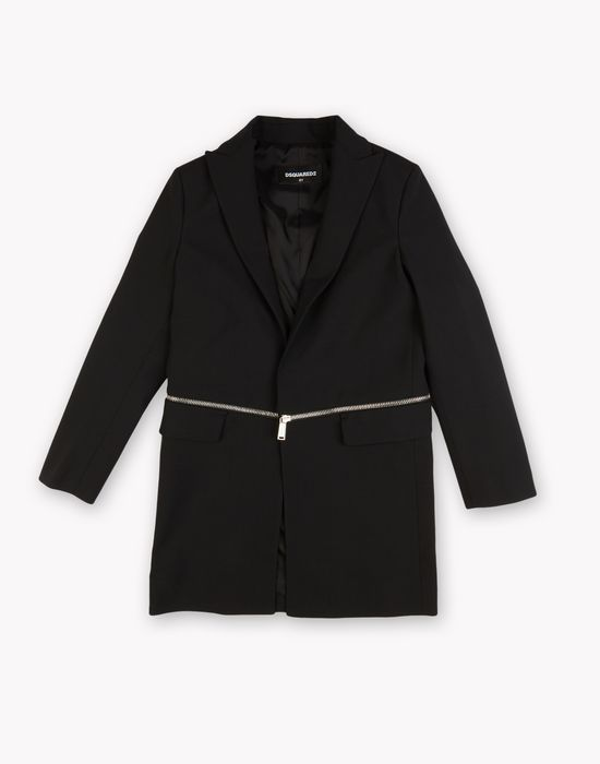 zip wool coat coats & jackets Man Dsquared2