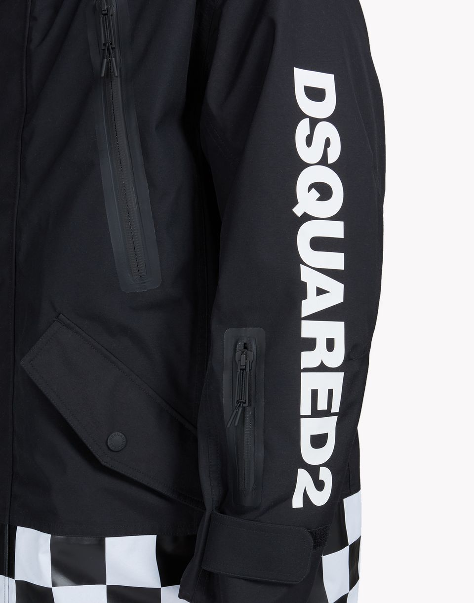 ski damier hooded parka coats & jackets Man Dsquared2