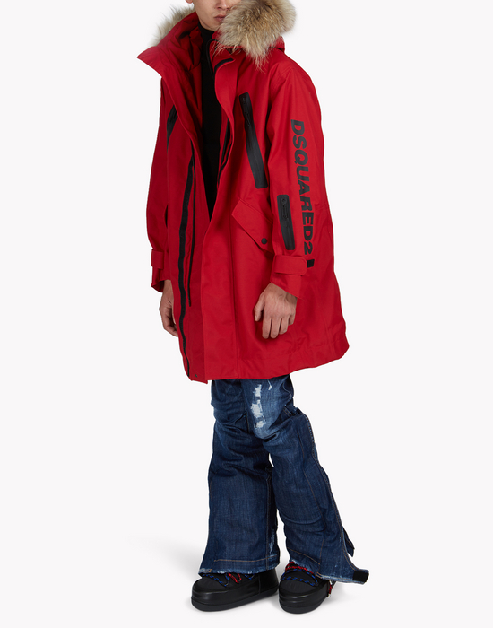 fur-trimmed hood ski parka coats & jackets Man Dsquared2