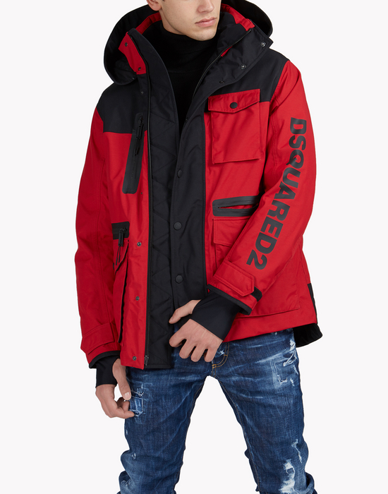 d2 ski hooded multi-pocket parka  coats & jackets Man Dsquared2