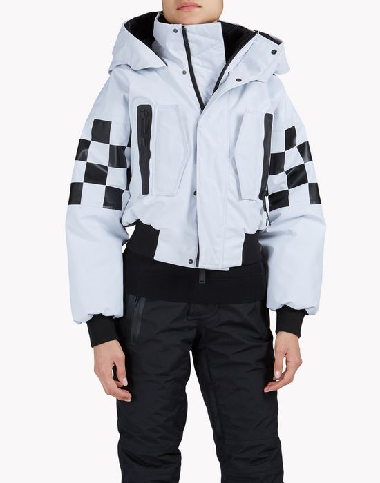 technical ski damier bomber jacket mäntel & jacken Damen Dsquared2