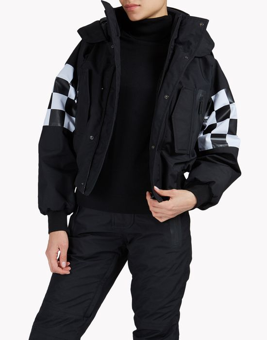 technical ski damier bomber jacket coats & jackets Woman Dsquared2