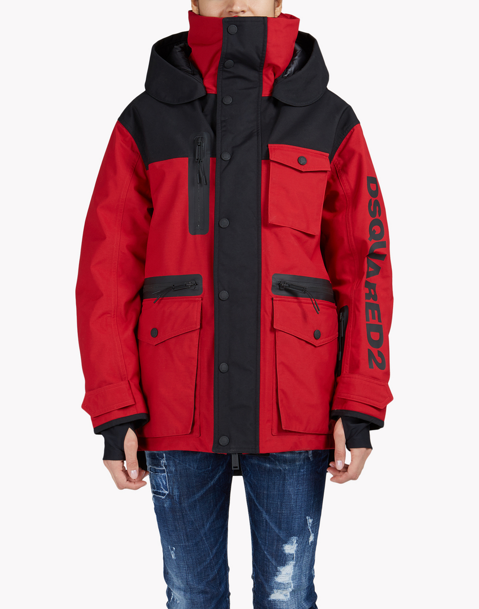 d2 ski hooded multi-pocket parka  mäntel & jacken Damen Dsquared2