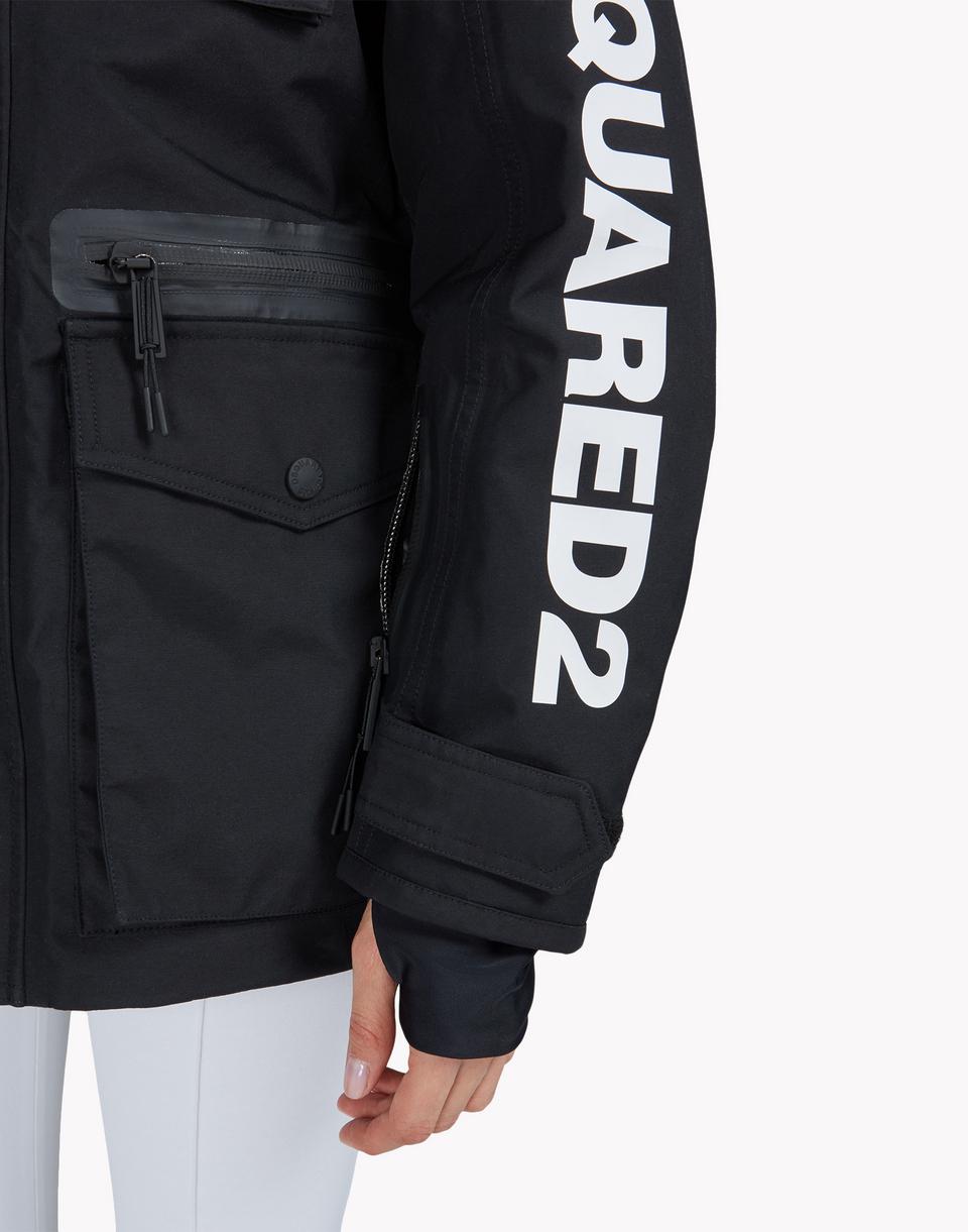 d2 ski hooded multi-pocket parka  coats & jackets Woman Dsquared2