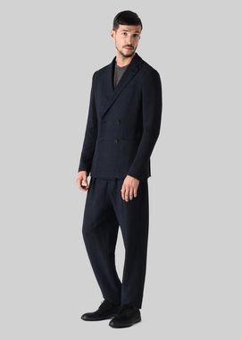 Armani Formal Jackets Men single-breasted cotton jacquard tokyo jacket