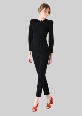 Armani Fashion Jackets Women single-breasted silk cady jacket