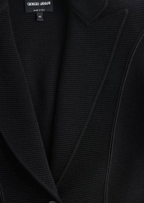 SINGLE-BREASTED WOOL JACKET: Casual Jackets Women by Armani - 5