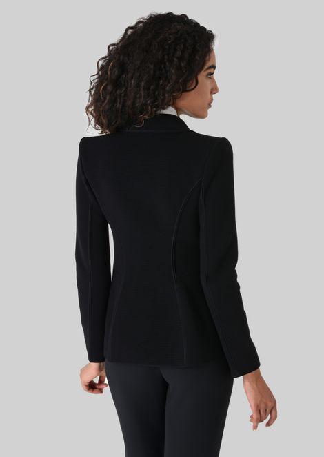 SINGLE-BREASTED WOOL JACKET: Casual Jackets Women by Armani - 3