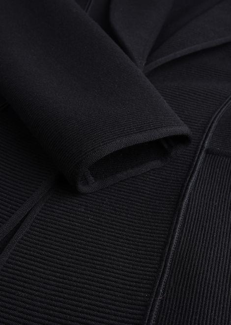 SINGLE-BREASTED WOOL JACKET: Casual Jackets Women by Armani - 4
