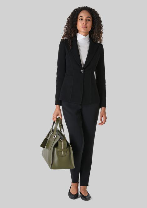 SINGLE-BREASTED WOOL JACKET: Casual Jackets Women by Armani - 1