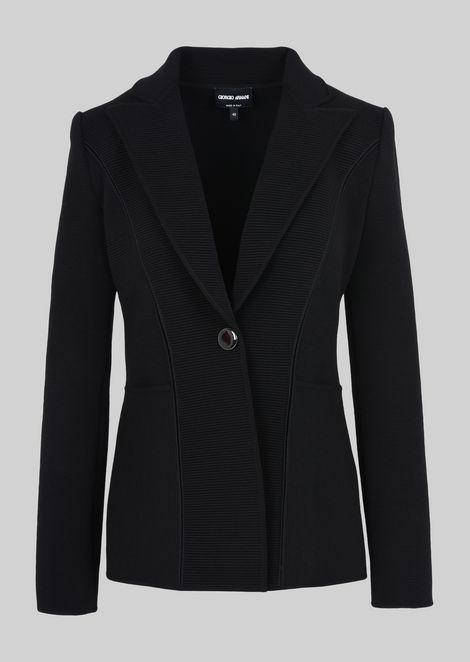 SINGLE-BREASTED WOOL JACKET: Casual Jackets Women by Armani - 2