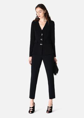 Armani Cocktail Jackets Women jacket in stretch tricotine with peplum