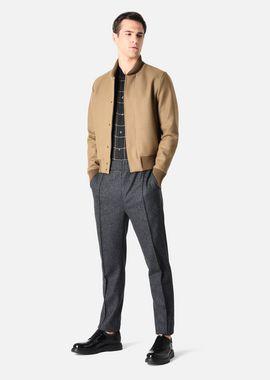Armani Blousons Men bomber jacket in solid broadcloth