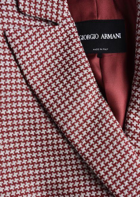 SILK AND WOOL CRÊPE JACKET: Formal Jackets Women by Armani - 5