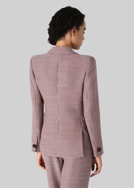 SILK AND WOOL CRÊPE JACKET: Formal Jackets Women by Armani - 3