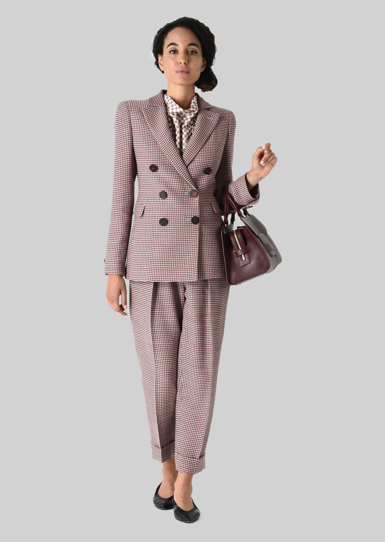 SILK AND WOOL CRÊPE JACKET: Formal Jackets Women by Armani - 0