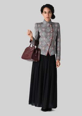 Armani Fashion Jackets Women single-breasted wool jacquard jacket