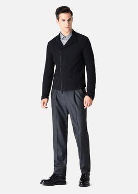Armani Blousons Men technical jacquard jacket