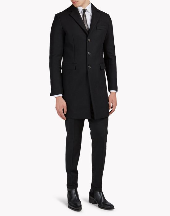 classic wool coat mäntel & jacken Herren Dsquared2