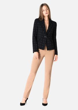 Armani Cocktail Jackets Women stretch silk and wool jacket with pin dot embroidery