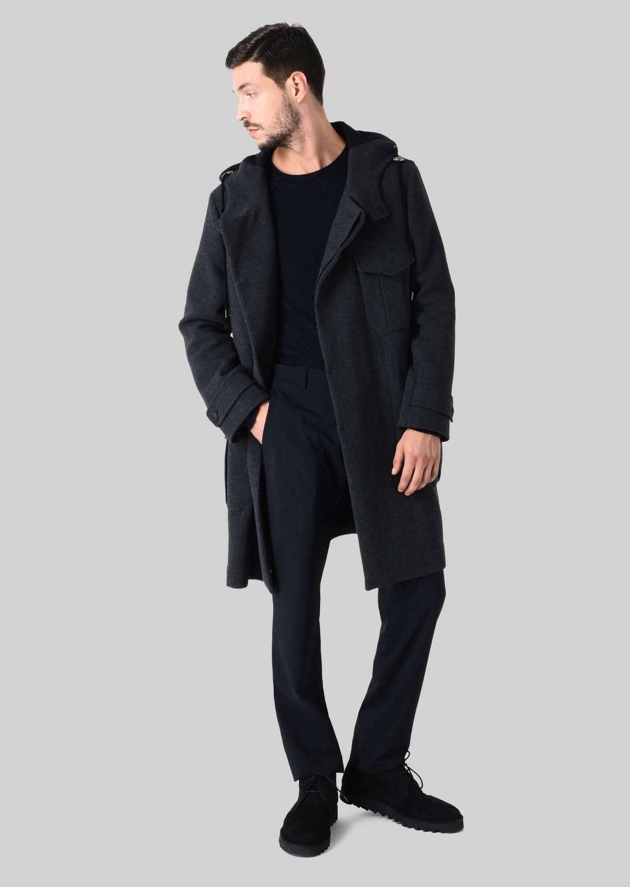 Outerwear: Peacoats Men by Armani - 0