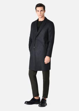 Armani Classic Coats Men coat in lined virgin wool