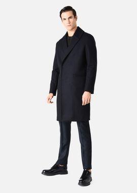 Armani Classic Coats Men one-and-a-half breasted broadcloth coat