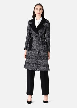 Armani Classic Coats Women mohair blend double-cloth coat with oversize prince-of-wales motif