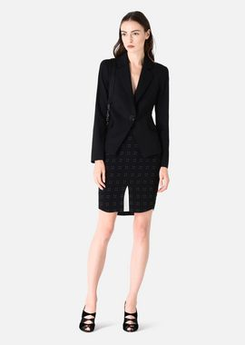 Armani Cocktail Jackets Women stretch wool jacket with classic lapel